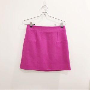 JCREW• fuchsia wool mini skirt